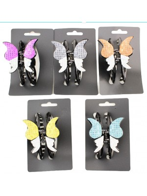 Ladies Fashion Clamps Butterfly Design - Assorted Colours