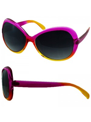 Ladies Two Tone Fashion Sunglasses