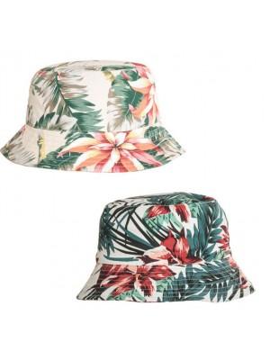 Wholesale Ladies Floral Print Bush Bucket Hat - Asst. Colour & Sizes