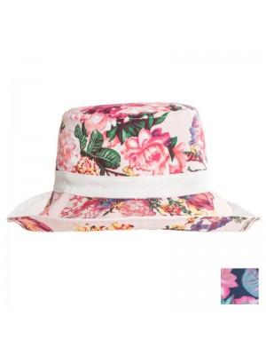 Ladies Flower Print Reversible Hat Assortment