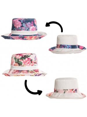 Wholesale Ladies Flower Print Reversible Hat Assortment