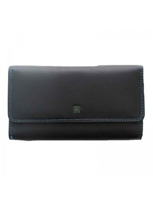 Ladies Forum Fold over Purse - Black