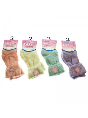 Ladies Fresh Feel Bed Socks - Assorted Colours