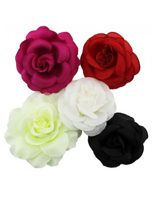 Wholesale Ladies Hair Flowers In Assorted Colours