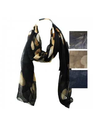 Ladies Heart Printed Scarf - Assorted Colours