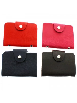 Ladies Leather Credit Card Wallet - Assorted Colours