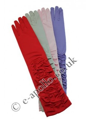 Starter Pack Ladies' Long Ruched Satin Gloves Assortment
