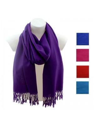 Wholesale Ladies Pashmina Scarves - Assorted Colours