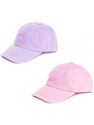 Ladies Plain Washed Baseball Cap - Assorted Colours