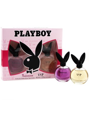 Ladies Playboy Perfume Gift Set - Queen of the Game & VIP