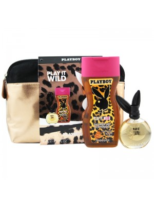 Wholesale Ladies Playboy Play It Wild Vanity Bag Perfume Gift Set