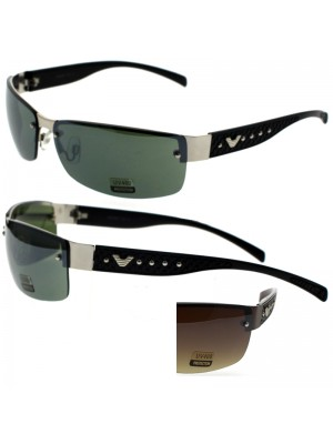 Unisex Rimless Sunglasses - Assorted Colours