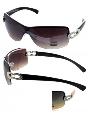 Ladies Semi-Rimless Sunglasses - Assorted Colours