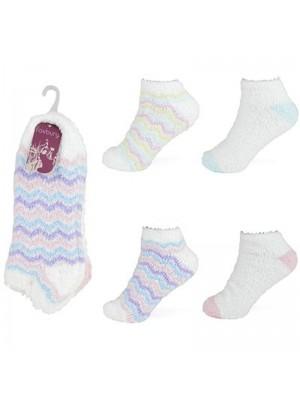 Wholesale Ladies Soft & Cosy Trainer Socks(UK 4-7) - Assorted