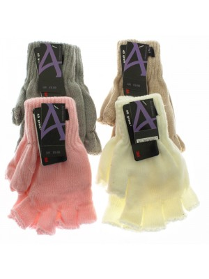 Ladies Thinsulate Fingerless Gloves - Light Assortment