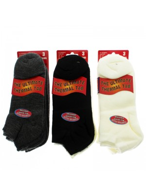 Ladies Ultimate Thermal Tab Ankle Socks - Assorted Colours
