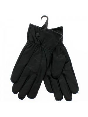 Ladies Leather Gloves - Black/ Chocolate Black