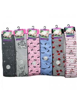 Ladies Welly Socks Assorted Designs 4-7