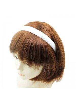 Ladies White Plastic Alice Band Headband