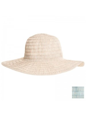 Ladies Wide Brim Pastel Coloured Hat - Assorted Colours