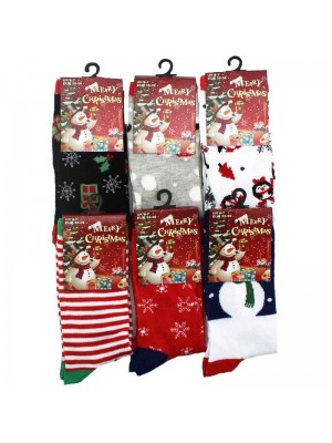 Ladies Christmas Socks Assorted Designs 4-7