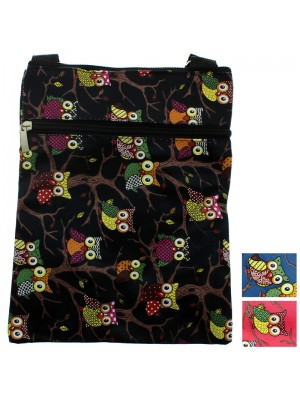 Ladies' Owl Pad Bag - Assorted Colours (20cm x 26cm)