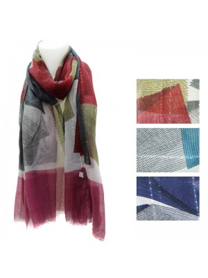 Ladies Abstract Design Pashmina Scarves - Assorted Designs