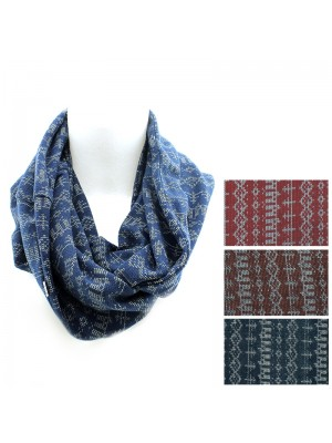 Ladies Aztec Design Knitted Fashion Snood - Assorted Colours