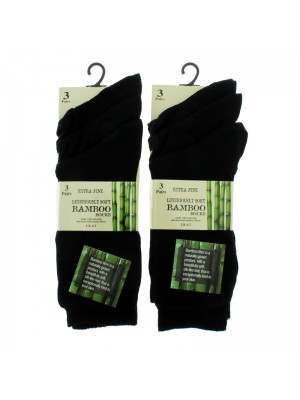 Ladies' Bamboo Socks (4-7) - Black
