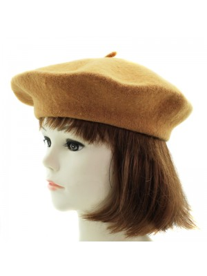 Ladies Beret Hats - Caramel