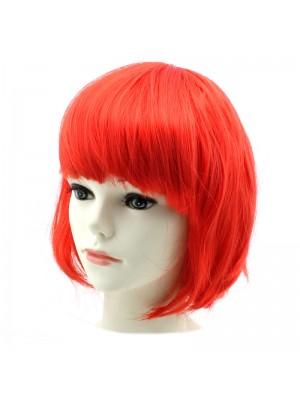 Ladies Bob Wigs - Red