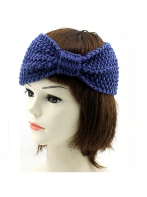 Ladies' Bow Design Knitted Headband - Assorted Colours
