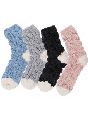 Ladies Comfort Winter Socks - Assorted Colours