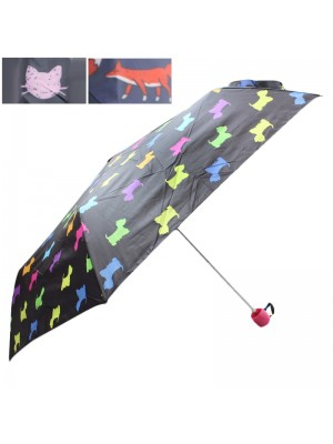 Ladies Compact Animal Design Umbrellas - Assorted Designs