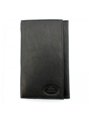Ladies' Facchino Plain Leather Purse - Black