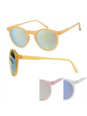 Ladies' Fashion Sunglasses - Round Lens (Assorted Colours)