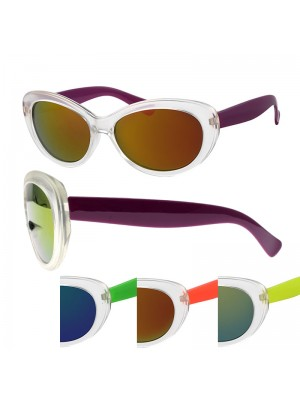 Ladies' Fashion Sunglasses - Two Tone (Assorted Colours)