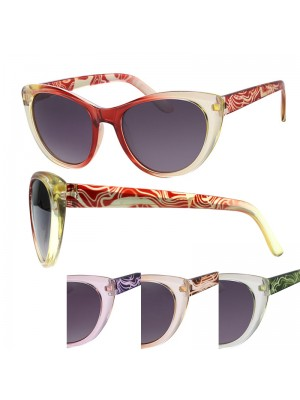 Ladies' Fashion Sunglasses (Swirls Design) - Assorted Colours