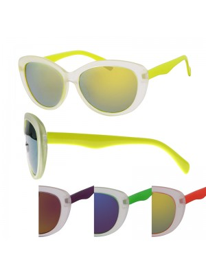 Ladies' Fashion Sunglasses (Two Tone) - Assorted Colours