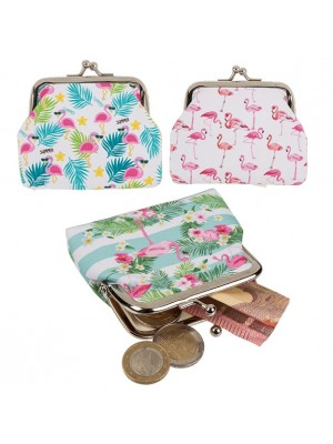 Ladies Flamingo PVC Coin Purse - Assorted Designs
