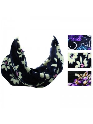 Ladies Flower Design Multi Purpose Snood - Assorted Colours (2)