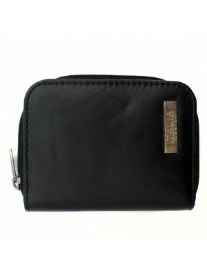 Ladies Genuine Leather Small Purse - Black
