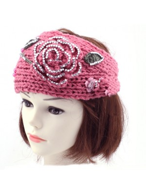 Ladies Knitted Flower Design Headbands - Assorted Colours