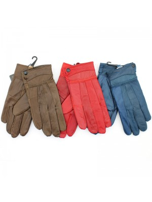 Ladies Leather Thinsulate Gloves - Assorted Colours (A)