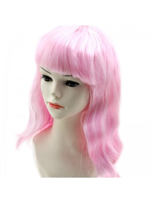 Ladies Long Bob Wigs - Light Pink