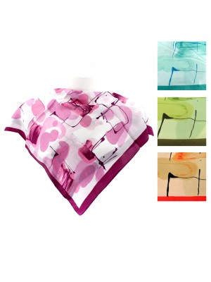 Ladies' Square Scarves - Abstract Design (Assorted Designs)