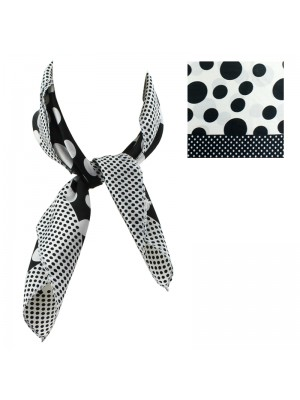 Ladies' Square Scarves - Polka Dot Design (Assorted Colours)