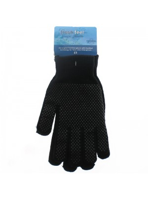 Ladies Suede Mitten Fingerless Gloves - Assorted Colours
