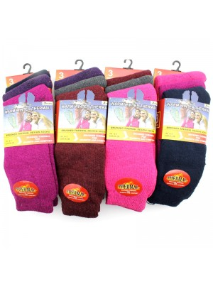 Ladies' Thermal Winter Socks - Assorted Colours