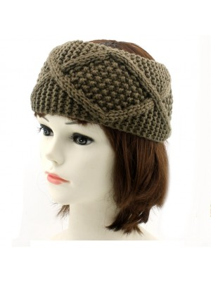 Ladies' Thick Knitted Headband - Assorted Colours